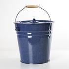 Ведро с крышкой 12 л, цвет синий