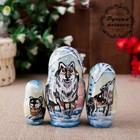 "Matryoshka ""Wolves"", 3 puppet-10 cm"