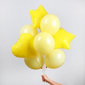 "Букет из шаров ""Макарун"", набор из 10 шт, цвет желтый"