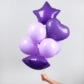 """Букет из шаров """"Макарун"""", набор из 10 шт, цвет фиолетовый"""
