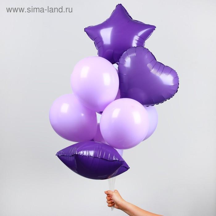 """A bouquet of balloons """"Macaron"""", set of 10 PCs, color purple"""