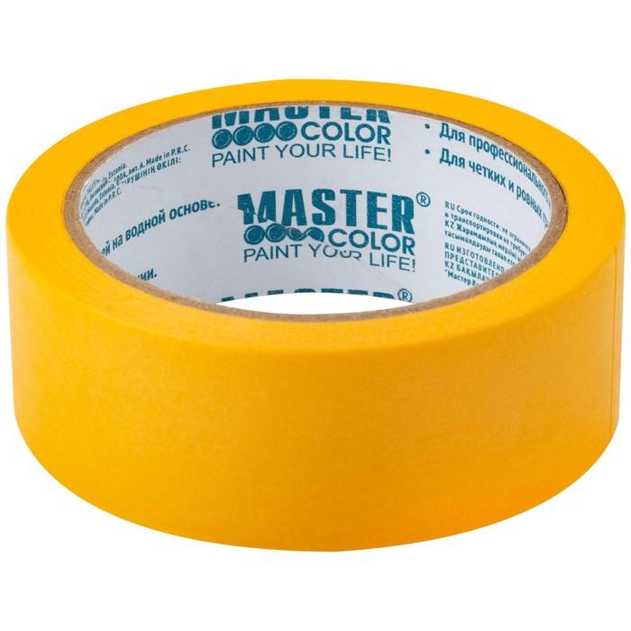 Лента малярная MASTER COLOR 30-6123, 36 мм х 25 м, 120 °С, рисовая, высокая адгезия