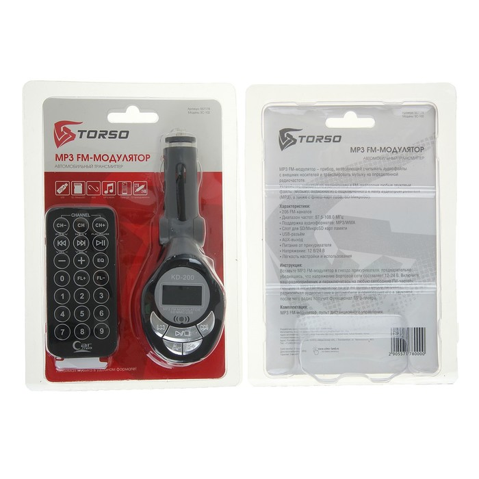 FM Mp3 Автомобильный модулятор SC-102 USB/SD/MicroSD/MP3/WMA