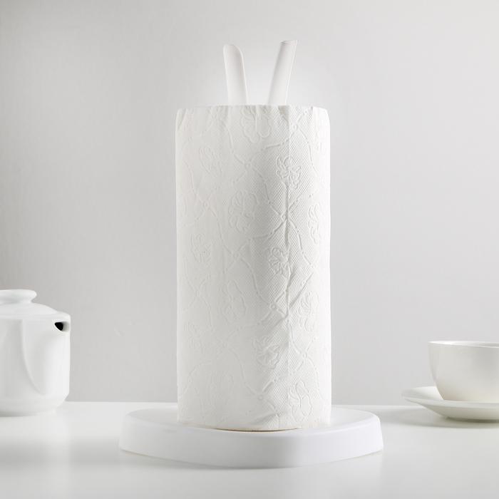 Держатель для бумажных полотенец Kluvi, цвет снежно-белый
