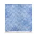 """Бумага для скрапбукинга """"Водная рябь""""  30,5х30,5 см плотность 190гр/м2"""