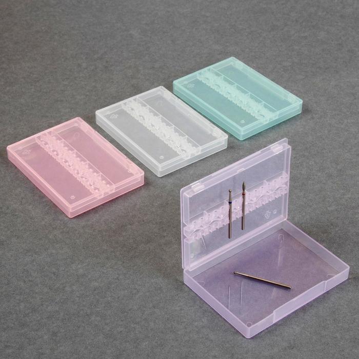 Органайзер для фрез, 14 отделений, цвет МИКС