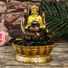 """Fountain Polyresin table from a network of light """"Buddha hand with Lotus"""" 27х20х20 cm"""