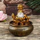 "Fountain Polyresin table from a network of light ""the Little Buddha of the Lotus"" 20,5х16х16 cm"