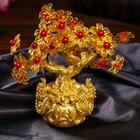"""Bonsai souvenir """"Flower money tree in the bag with lions"""" 35 colors 18х18х7,5 cm"""