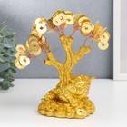 """Bonsai money tree """"of the Golden toad on coins"""" 90 coins 18,5х18х9,5 cm"""