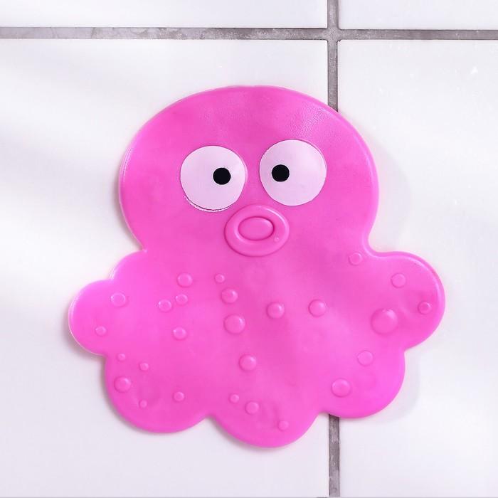 "Мини-коврики для ванны ""Медуза"", 6 шт, цвет МИКС"