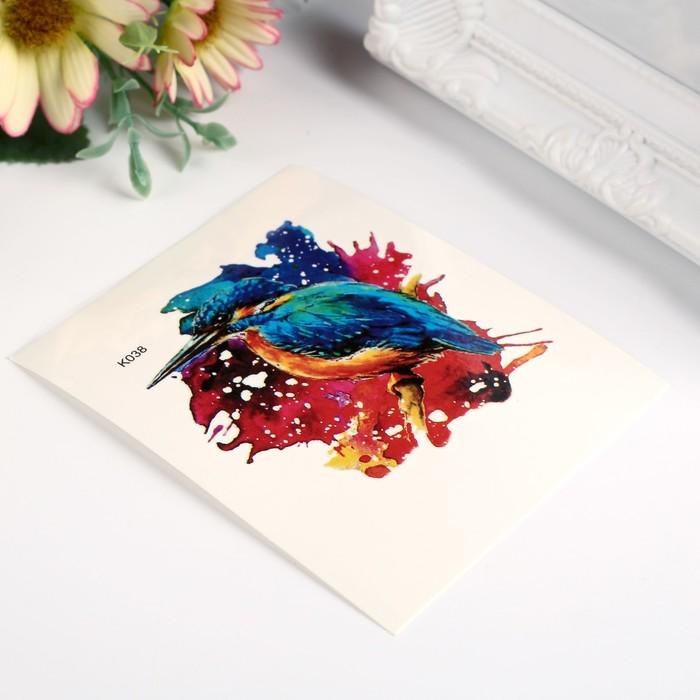 "Татуировка на тело цветная ""Птица"" 10х8 см"