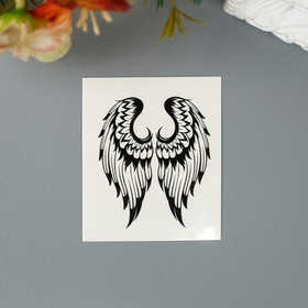 Black and White Wings Body Tattoo