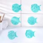 """Набор мини-ковриков для ванны """"Рыбка-шар"""", 6 шт, цвет МИКС"""