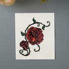 """Татуировка на тело """"Две красные розы"""""""