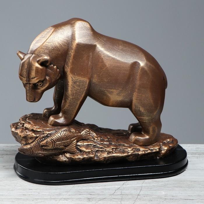 """Статуэтка """"Медведь"""", бронзовый цвет, 25 см"""