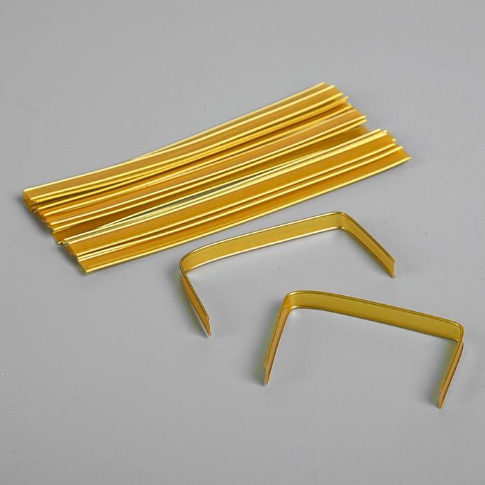 Клип-лента в нарезке, золотой, 13 см