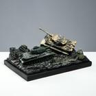 """Сувенир """"Бой танков №5 (Т-34 +Тигр)"""" рисованный"""