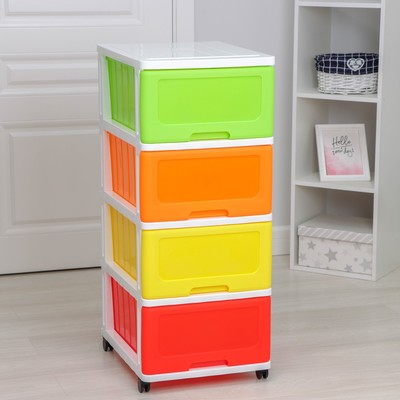 Комод 4-х секционный «Радуга», разноцветный