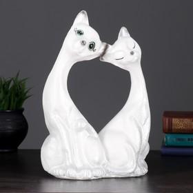 "Копилка ""Две кошки большие"" 30х21см белые"