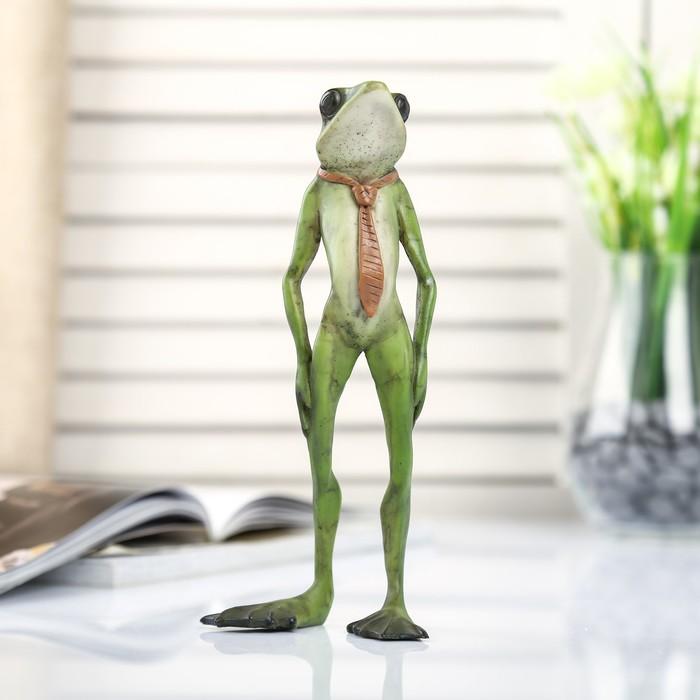 """Сувенир полистоун миниатюра """"Лягушонок в галстуке"""" 18,5х4,5х11 см - фото 798245766"""