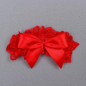 """Garter for the bride """"Nicole"""", red"""