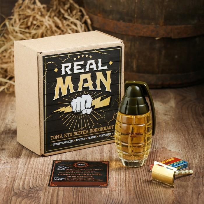 Подарочный набор Real Man, 13,4 х 15,2 х 8 см