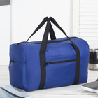 Сумка дорожная, отдел на молнии, наружный карман, цвет синий