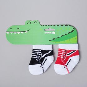 """Набор носков Крошка Я """"Крокодил"""", 2 пары, 12-14 см"""