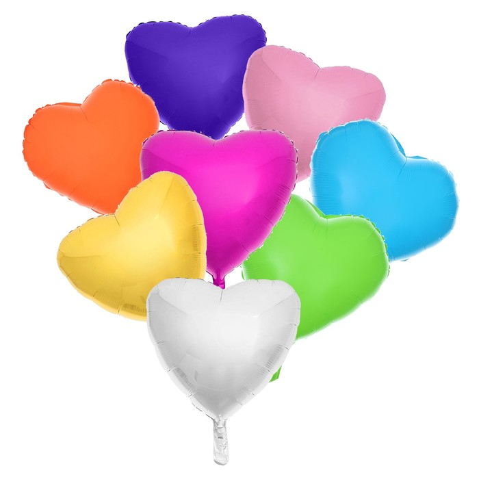 """Шар полимерный 18"""", сердце, набор 8 шт., МИКС - фото 308473994"""