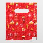 Пакет «Подарки» , полиэтиленовый с вырубной ручкой, 17 х 20 см, 30 мкм - фото 308983667