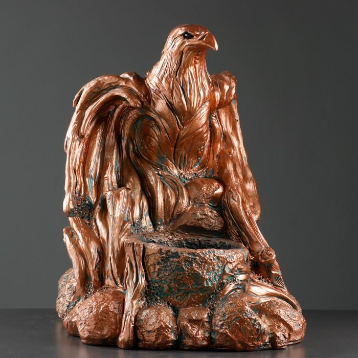 """Фигура с кашпо """"Орел большой"""" медь, 60×48×60 см"""