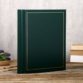 """Фотоальбом Fotografia магнитный, 30 листов, 23х28 см, """"Классика"""" зелёный"""