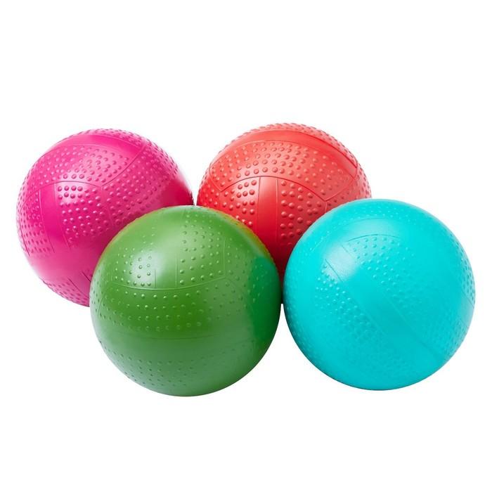 Мяч фактурный, диаметр 10 см, цвета МИКС