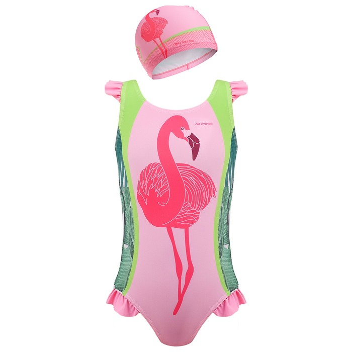 Комплект для плавания детский (купальник+шапочка), размер 26, рост 110 см