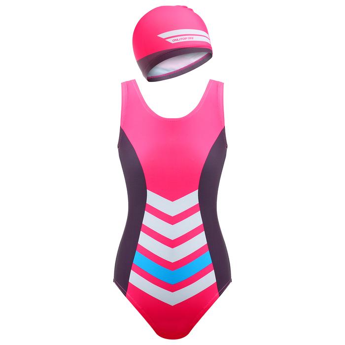 Комплект для плавания детский (купальник+шапочка), размер 38, рост 140 см