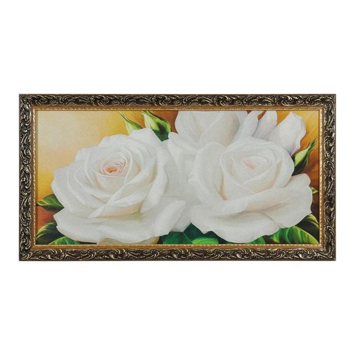 """Гобеленовая картина """"Белые розы"""" 45х85 см"""