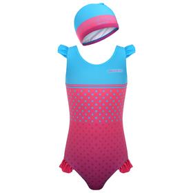 Комплект для плавания детский (купальник+шапочка), размер 26, рост 98 см