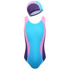 Комплект для плавания детский (купальник+шапочка), размер 34, рост 128 см - фото 105467391