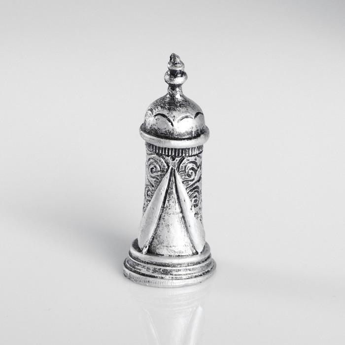 Сувенир полистоун «Башня», серебряный