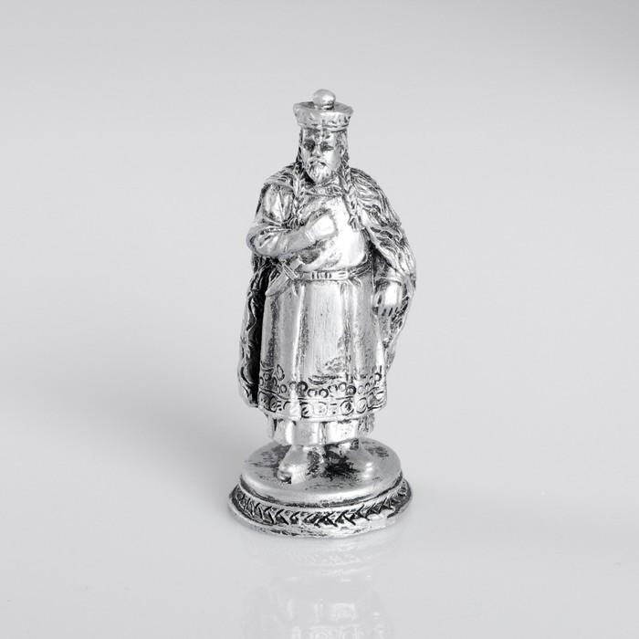 Сувенир полистоун «Мамай», серебряный