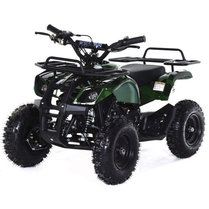 Квадроцикл детский бензиновый MOTAX ATV Х-16 Big Wheel с механическим старт,зеленый камуфляж   44934
