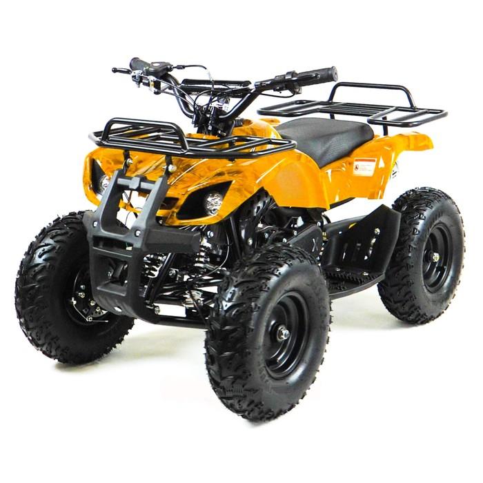 Квадроцикл детский бензиновый MOTAX ATV Х-16 Big Wheel с механическим старт, желтый камуфляж   44934