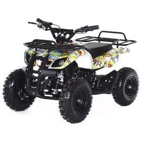 Квадроцикл детский бензиновый MOTAX ATV Х-16 Big Wheel с механическим стартером, бомбер Ош