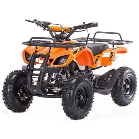 Квадроцикл детский бензиновый MOTAX ATV Х-16 Big Wheel с механическим стартером, оранжевый Ош