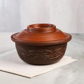 Горшок духовой, 1 л, красня глина