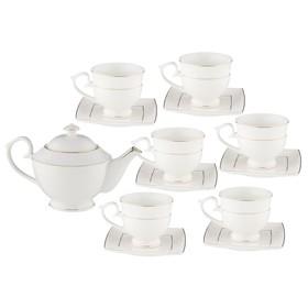 Чайный набор, 13 предметов, костяной фарфор