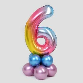 """A bouquet of balloons """"6"""", figure, foil, latex, 14 piece set, color pink"""
