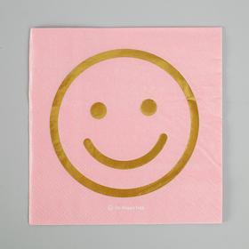 Салфетки бумажные 'Смайлик' 25х25 см, набор 20 шт (комплект из 4 шт.)