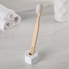Держатель для зубной щётки «Гаечка», цвет белый Ош